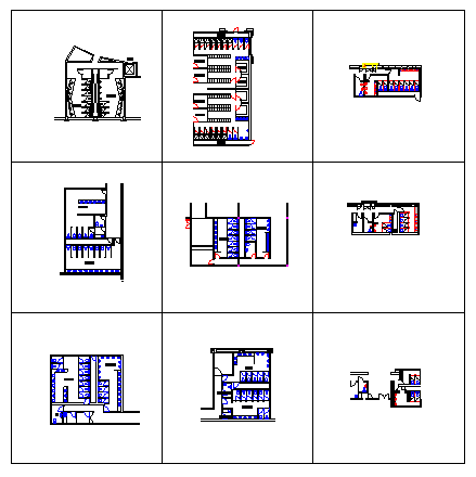 various types of Public Bathroom Design drawing