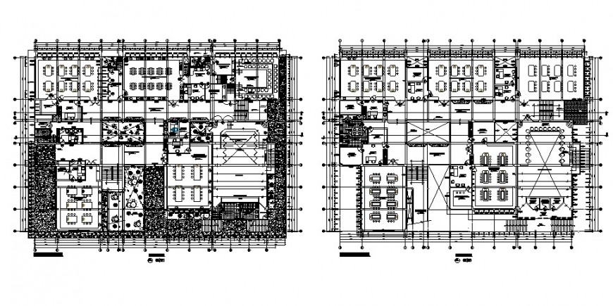 Veterinary institute floor plan distribution cad drawing details dwg file