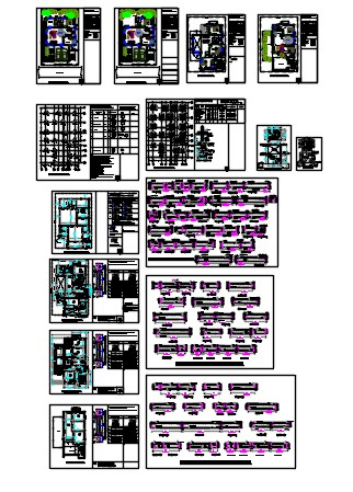 villa plan and structural details